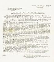 Komunikat o zakończeniu strajku i podpisanych postulatach pomiędzy stroną rządową a pracownikami służby zdrowia (ze zbiorów Muzeum GUMed)